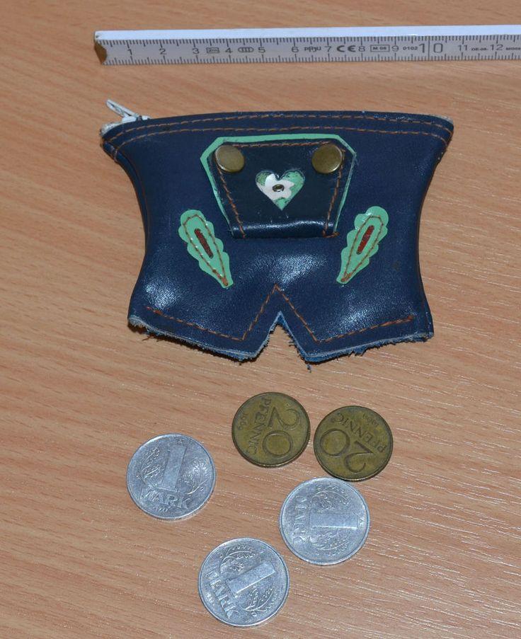 DDR Kinderportemonaie  Lederhose  mit 3,40 Mark der DDR