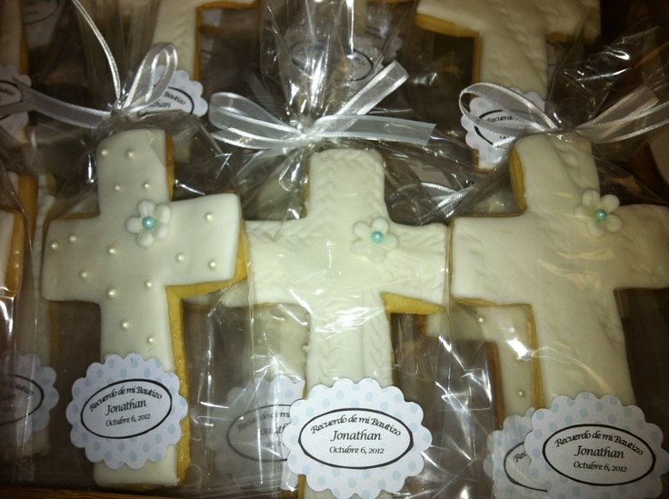 Cookie favors for boy's Christening