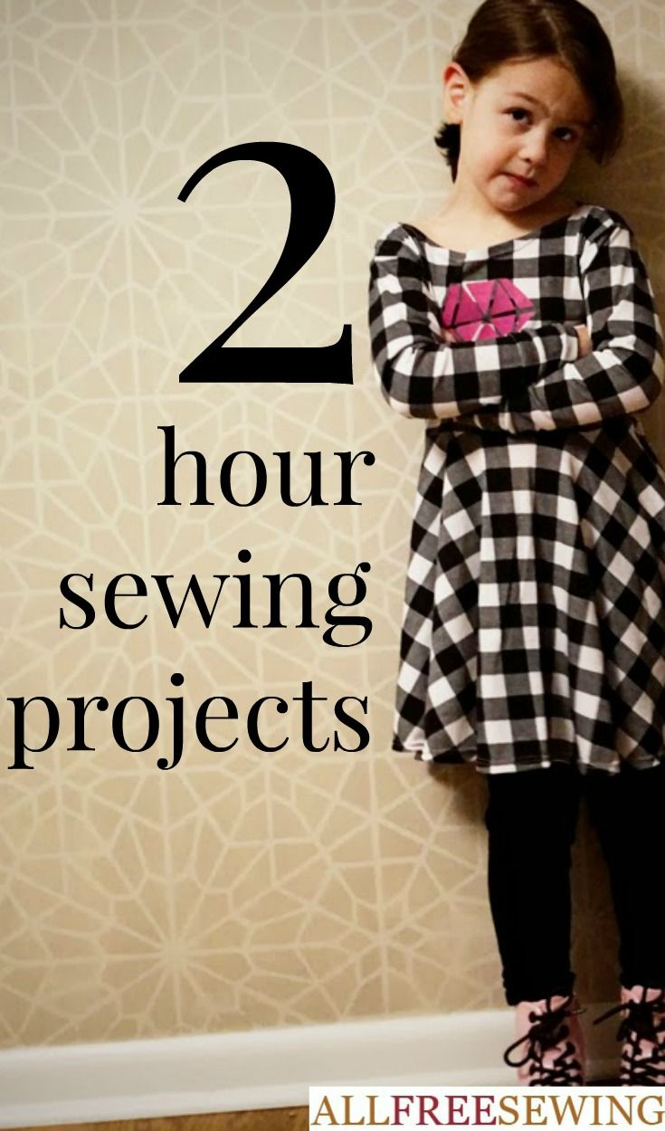 If you have a few hours and nothing to do, check out one of these easy sewing projects that you can complete in just a few hours. These sewing project ideas can be created in a jiff. Free sewing patterns do not have to be complicated and these quickies are a great way to spend a few free hours.