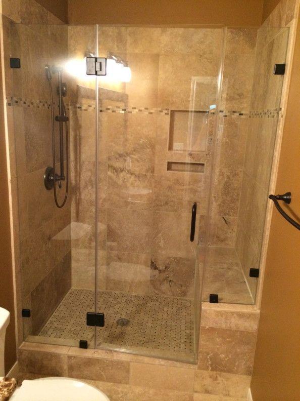 Travertine Tub To Shower Conversion Bathroom Remodel In Conroe Tx ..