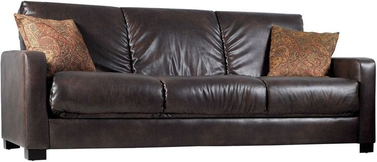 Leather Couch Bed Brown Renu Futon Sofa Sleeper Livingroom Soft Luxury ON SALE! #Unbranded