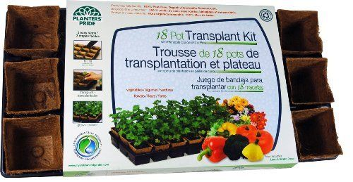 Planters Pride RZP1830 18 Fiber Grow Pot Transplant Kit by Planters Pride. $14.99. Heavy duty carrying tray. An ideal add on for the early spring, winter and fall. It includes 18 fiber grow pots of 3-inches size. Fiber grow pot transplant kit. Great for home gardeners. Get started growing with this basiv kit.
