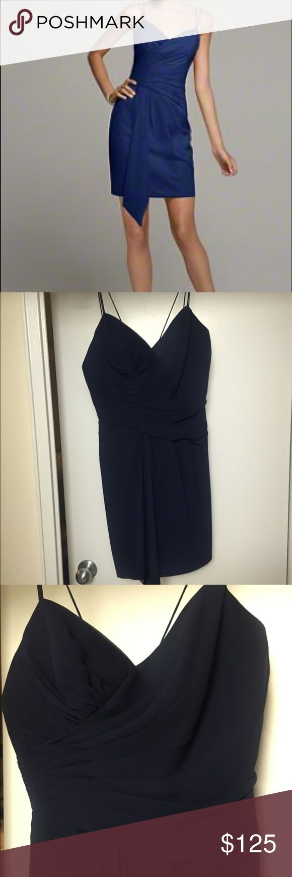Alfred Angelo navy chiffon dress , like new Beautiful elegant chiffon dress ! Great formal wear. Like new, only worn once. Alfred Angelo Dresses