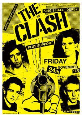 THE CLASH Joe Strummer   24 November 1978 Derby Kings by tarlotoys,