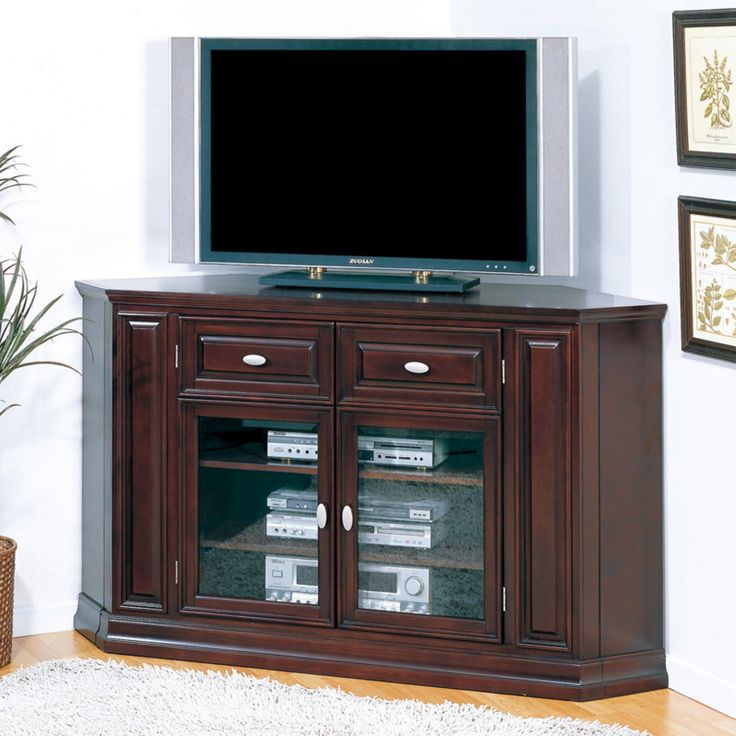 Leick 86236 Riley Holliday Chocolate Cherry 62 in. Corner TV Console - 86236