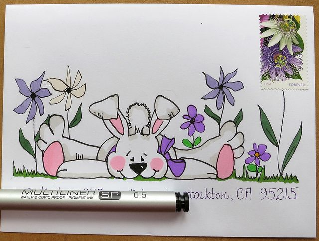 Easter Bunny Mail art