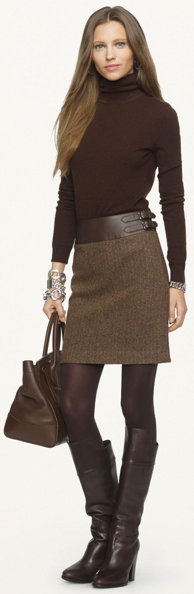 Ralph Lauren Black Label - Leather-Trimmed Kieron Skirt