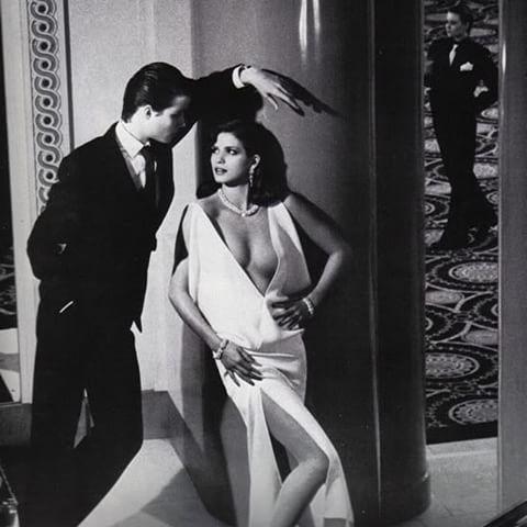 Gia Carangi for Yves Saint Laurent. Photo: Helmut Newton, 1979, Paris Vogue