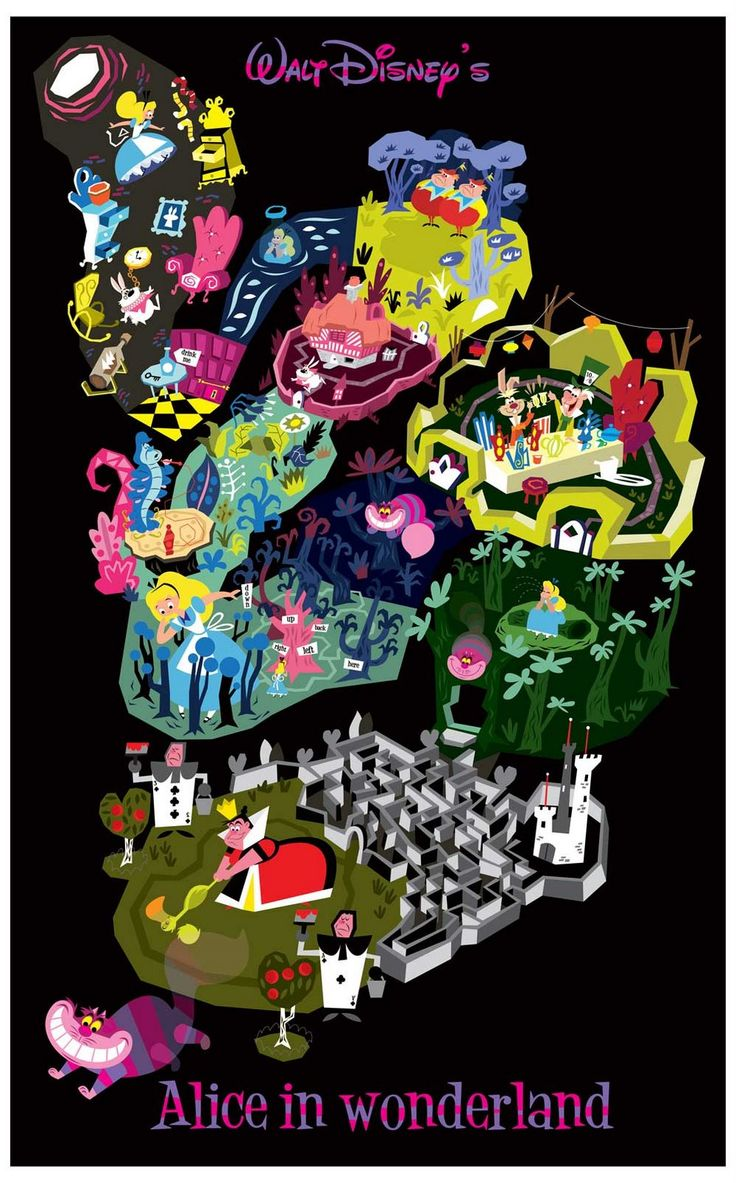 Click on image to make bigger. Alice in Wonderland by Matthew Cruickshank-Love this!!!
