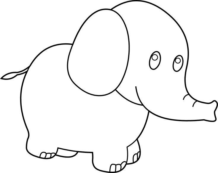 1000+ Ideas About Elephant Outline On Pinterest