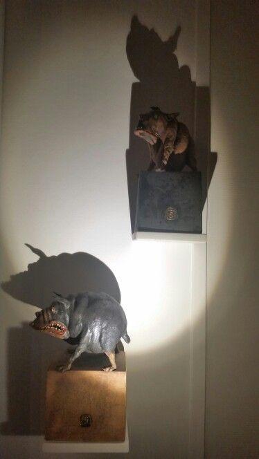 The guys Bjarne and Floyd.  Made by Norwegian ceramist Ole Martin Skaug. Love his work.