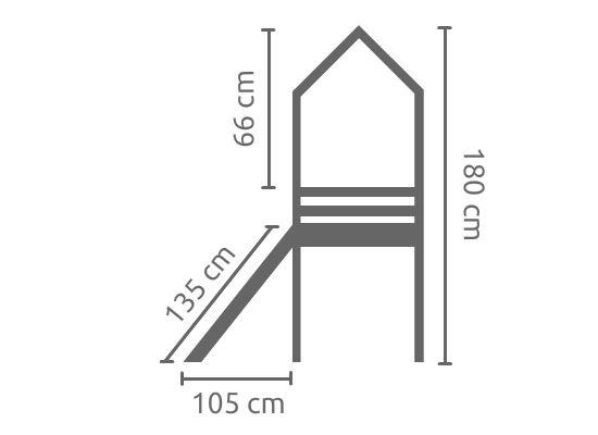 Cama Alta Amarela Com Cabana e Tenda Rosa e Escorregador em Diversas Cores - Linha Dicolori - Dactylo
