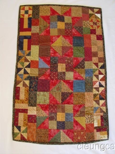 Original Puzzle Quilt Table Topper Wall Hanging By Kathi