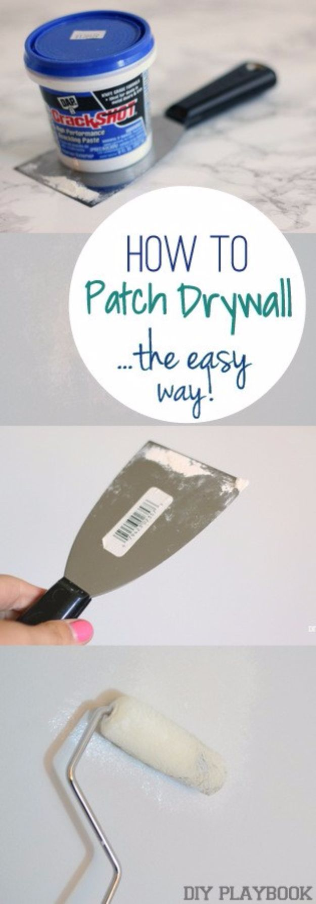 33 Home Repair Secrets From the Pros - Patch Dry Wall The Easy Way - Home Repair Ideas, Home Repairs On A Budget, Home Repair Tips, Living Room, Bedroom, Kitchen Repair, Home Improvement, Quick And Easy Home Tips http://diyjoy.com/diy-home-repair-secrets