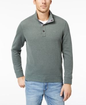 Tommy Bahama Men's Cold Springs Mock Neck Sweater, Created for Macy's - Green XXL