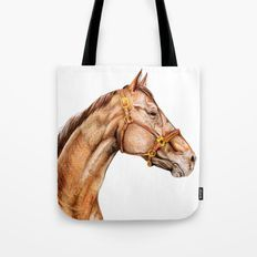 Brown Horse Traditional Portrait Tote Bag