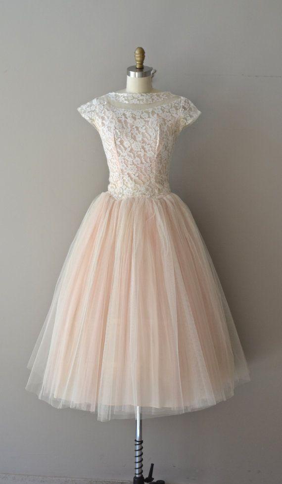 Little Darling dress / vintage lace 50s dress / by DearGolden