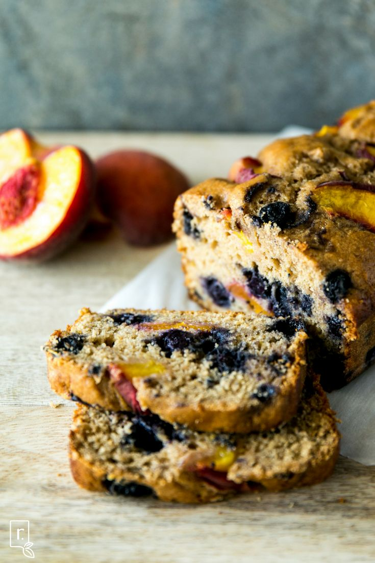 Peach Blueberry Bread  2 ripe bananas, mashed 1 large egg ¼ cup coconut oil, melted & cooled ½ cup honey ½ tsp. cinnamon 1 tbsp. baking powder pinch of salt 1 cup white whole wheat flour 1 scoop Vanilla IdealRaw Protein ½ cup blueberries (fresh or frozen) 1 large ripe peach (1/2 cut into small chunks and ½ sliced for on top)  1.    Preheat oven to 350F, line a loaf pan with parchment paper and set aside. 2.    In a large bowl, whisk together the mashed bananas, egg, coconut oil, honey…