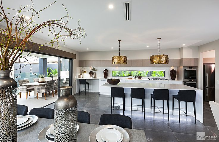Kitchen and dining in the Milan by Stylemaster Homes