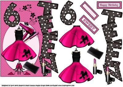 over the edge 6 TEEN girl on Craftsuprint - Add To Basket!