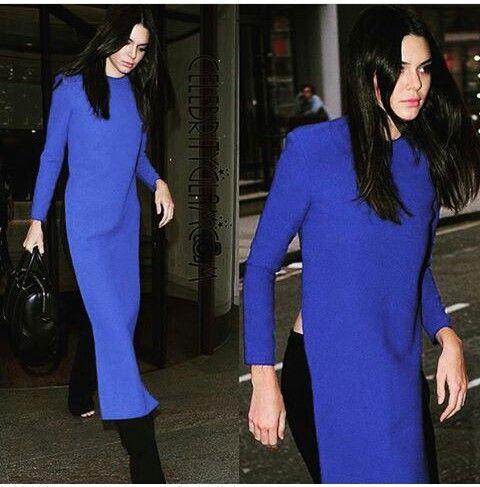 Pakistani shalwar kameez inspired dress over pants/trousers =] Kendall Jenner.