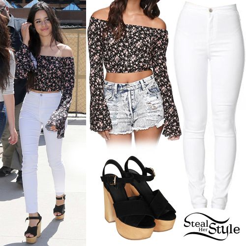 Celebs fashion camila cabello outfit the angel july 30th cabello