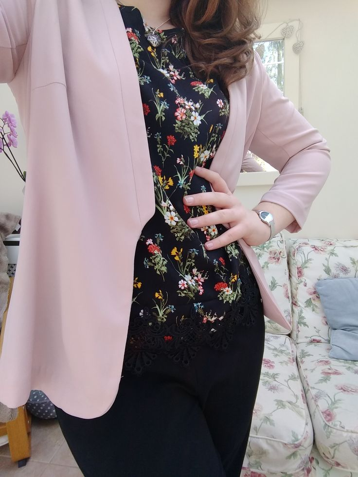 Love spring workwear! Blazer from H&M Top from Oasis Trousers from Marks and Spencer Watch from Radley