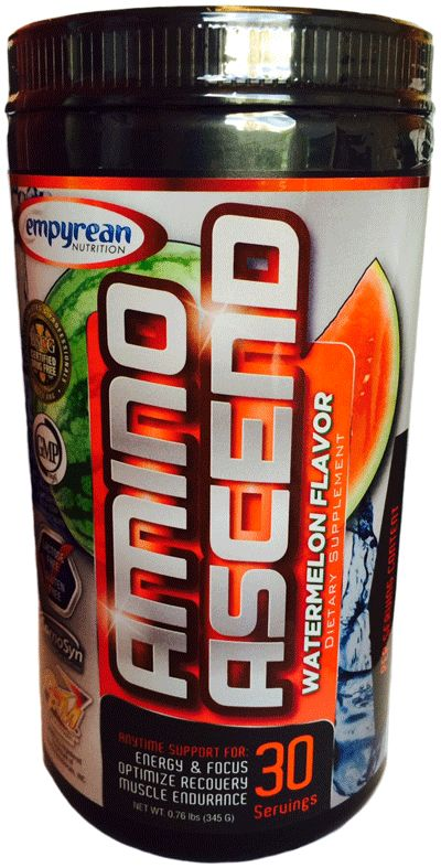 Empyrean Nutrition Amino Ascend Watermelon 30 Servings - Top 10 Pre-Workout Supplements - Top 10 Supplements