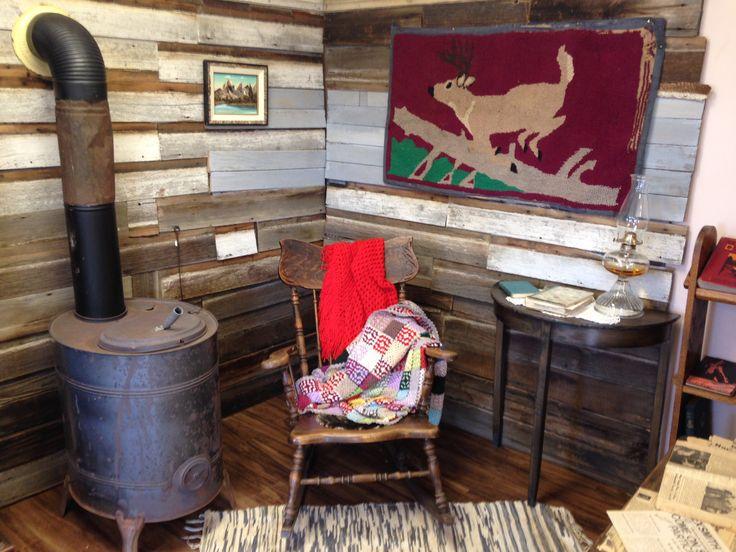 Corner of cozy cabin early century days