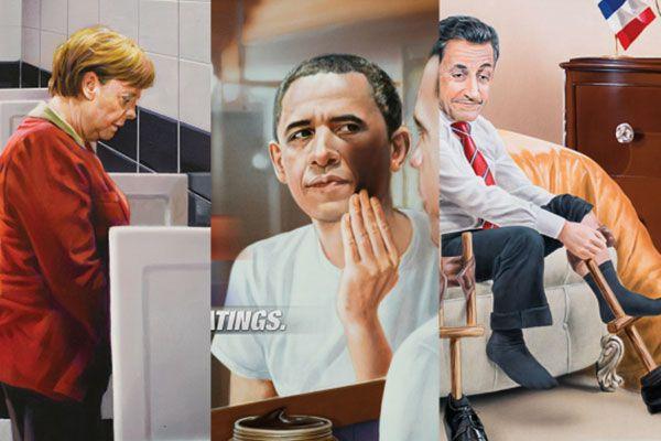 Global Agency si prende gioco di Barack Obama, Angela Merkel e Nicolas Sarkozy nell'irriverente campagna firmata dall'agenzia Alaaddin Adworks di Istanbul