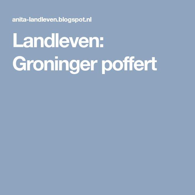 Landleven: Groninger poffert