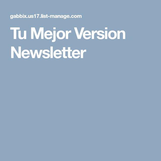 Tu Mejor Version Newsletter