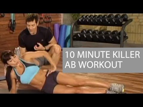 Killer 10 Minute Ab Workout that can be done at home!!!  Free video from Tony Horton's 10 Minute Trainer