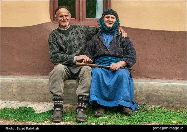 Elderly Gilaki Couple in the Village Ardeh in the Iranian Province Gilan.
