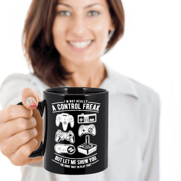 Funny Remote Control Freaks Mug The Best Coffee Mug Gift For Gamers That Are Ultimate  Control Freaks We create fun coffee mugs that are sure to please the recipient. Tired of boring gifts that don't last? Give a gift that will amuse them for years!A GIFT THEY WILL ADORE - Give them a mug to shout about! Our funny coff