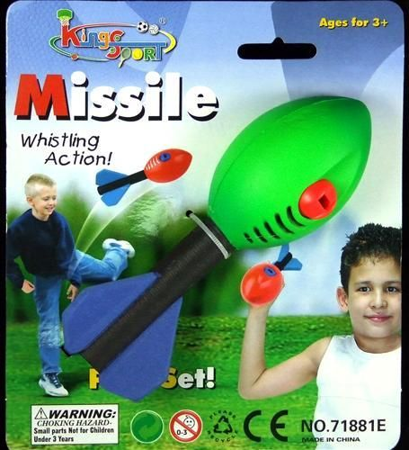 Fun for the beach, back yard or the park Foam and Rubber whistling missile #Ball 16cm  $5.50 To order email sales@giftsfromyou.com.au