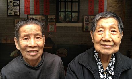 Liang Jieyun, 85, and Huang Li-e, 90, are rarities as zishunü and have never had a husband or children. Photograph: Tania Branigan for the G...