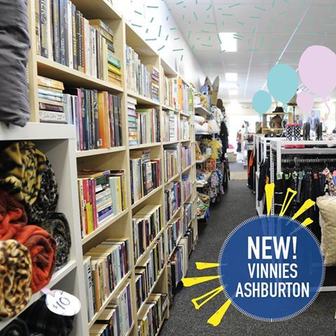 Vinnies Ashburton Vinnies Ashburton opened in August About Vinnies Ashburton It's open 6 days a week between 9am – 5pm Check out more stores at www.ilovetoopshop.com.au