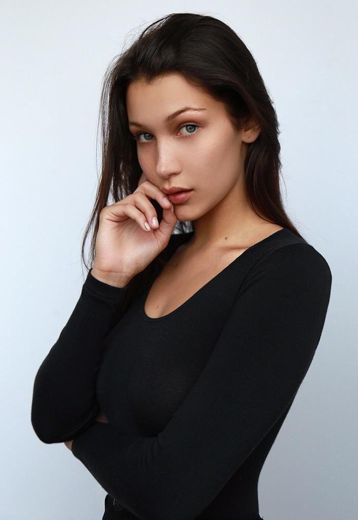 Natural beauty. She don't need make up . B Hadid