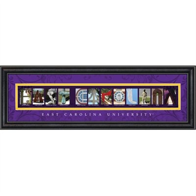 East Carolina Pirates 8 X 24 Framed