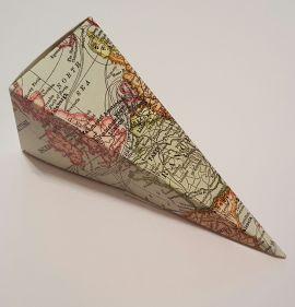 Vintage Maps Travel Theme Wedding Confetti or Favour Cones
