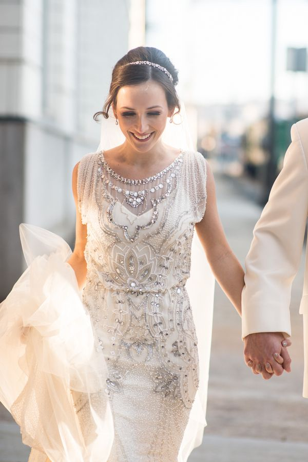 gorgeous jeweled wedding dress | Alisha Crossley