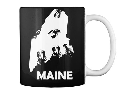 Maine Black Mug Back