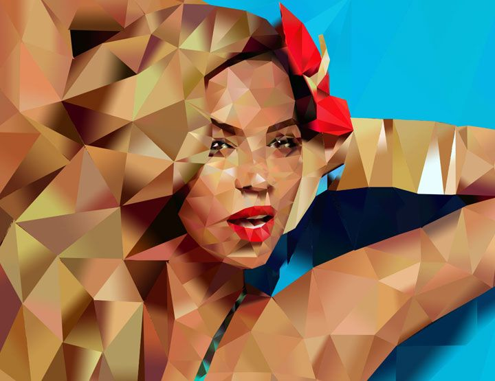 Beyonce acrylic painting, 100 x 70 cm. For more info http://www.styloveobrazy.sk/product/diva-b/