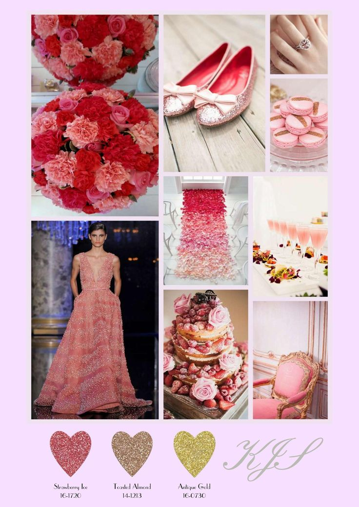 This board, called Strawberry Ice features an alternative colour palette for a project wedding Kym (Diploma in Wedding Planning Styling & Design) has been working on. Again we just love her choice of images and the inclusion of the colour palette into the board.