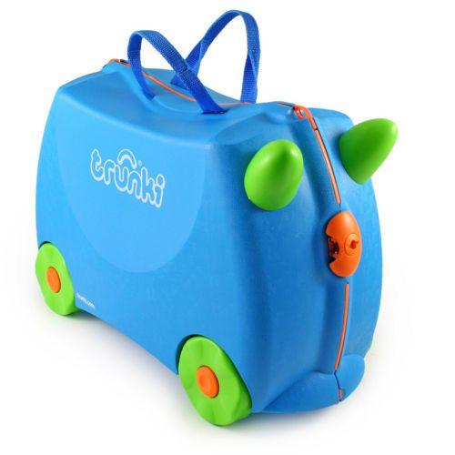 Jeżdząca walizka Terrance (niebieska)