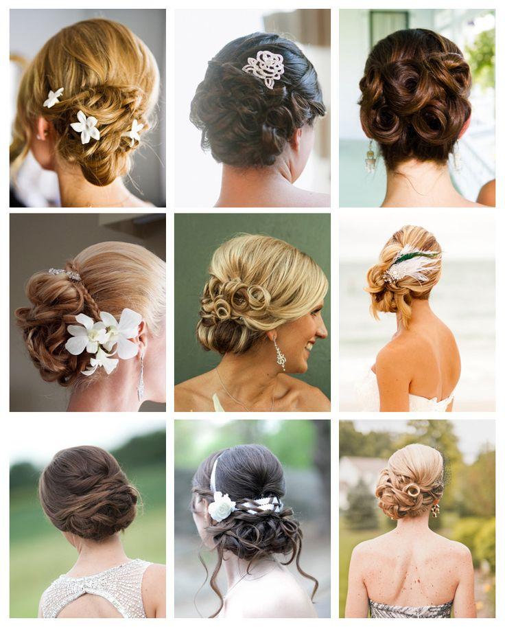 Menyasszonyi frizurák: a konty | Esküvőhírek - végig Veled!  Ezúttal a hosszú- és félhosszú hajú hölgyeknek kedvezünk, és bemutatunk néhány gyönyörű menyasszonyi hajkölteményt.  Katt a linkre: http://eskuvohirek.hu/kulisszak_mogott/menyasszonyi-frizurak-a-konty