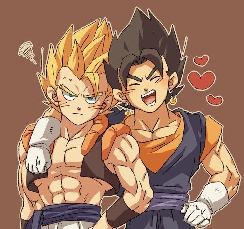 well between Goku and Vegeta because....Goggeta and Vegito...are...kinda the same being...it's complicated
