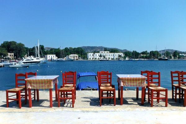 Port of Lakki- tavern tables