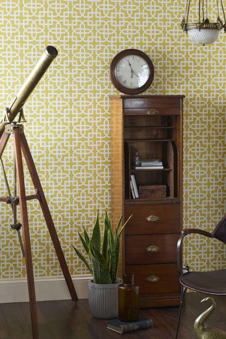 Home diy wallpaper illustration arthouse imagine fern plum motif vinyl - A Smart Geometric Interlocking Motif Design With A Distress Paint Effect Background